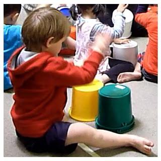 child on bucket